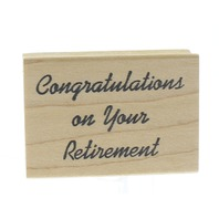Congratulations on your Retirement Congrats Double D Wooden Rubber Stamp