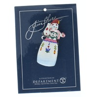Jim Shore Collectible Department 56 Hat Lapel Pin Holiday Winter Snowman