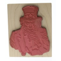 Stamp City 1997 Uncle Sam We Want You Wooden Rubber Stamp