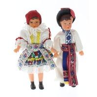 Vintage Lidova Tvorba Dutch Boy and Girl Doll in Original Box