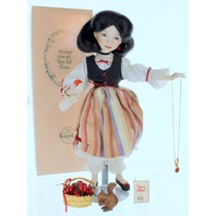 """15"""" Dianna Effner Snow White Porcelain Doll Mother Goose By Knowles"""