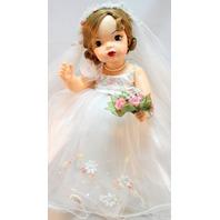 Terri Lee Millennium Bride Doll Knickerbocker Original Gown and Accessories