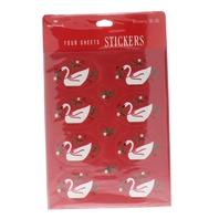 Hallmark Vintage Sticker Pack Swan Goose  4 Sheet pack