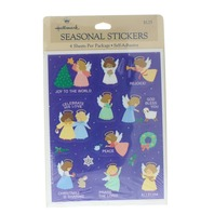 Hallmark Vintage Sticker Pack Holiday Angels Blessings Gift 4 Sheet pack