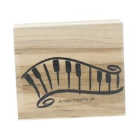 Whimsical Key Board Piano Stampin Up 1999 Wooden Rubber Stamp