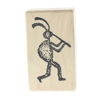 Rubber Poet 1992 Pied Piper Beetle Bug Wooden Rubber Stamp