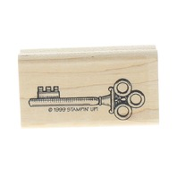 Stampin Up Skeleton Key 1999 Wooden Rubber Stamp