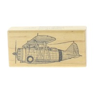 Imagine Art Designs 1996 Grumman Air Plane  Wooden Rubber Stamp
