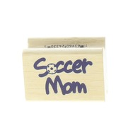 Soccer Mom Sports Themed Quote Words Writing  Wooden Rubber Stamp