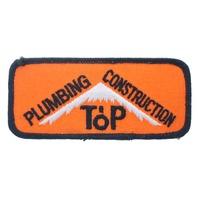 Plumbing Constructions Top Orange and Black Uniform Patch