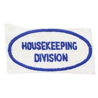 Housekeeping Division Blue and White Oval Uniform Patch