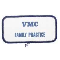 VMC Family Practice Medicine Navy and White Uniform Patch