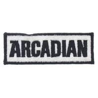 Arcadian Black and White Uniform Patch