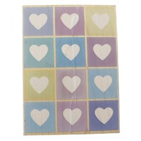 Hero Arts Heart Shadow Print S2340 Wooden Rubber Stamp
