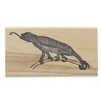 Stamp Allah Chameleon Lizzard Wooden Rubber Stamp