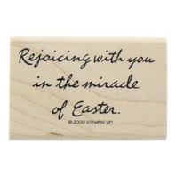 Rejoicing with You Miracle of Easter Stampin Up 2000 Wooden Rubber Stamp