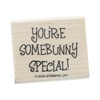 Stampin Up You're Somebunny Special!  Wooden Rubber Stamp