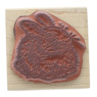 Northwoods Bunny Rabbit Easter Inspired Wooden Rubber Stamp