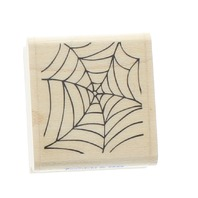 Stampabilities 2002 Spider Web Cobweb Halloween Wooden Rubber Stamp