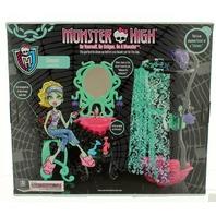 Monster High Shower Lagoona Blue Sink and Stool Bathroom Set New in Original Box
