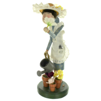 Zims 1999 Collectible Gardner Woman Figurine with Hat and Watering Can