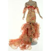 "Robert Tonner American Model 22"" Flamenco Pink and Orange Gown Dress 2005"