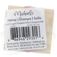 The Letter i Michaels Monogram Wooden Rubber Stamp