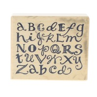 PSX Alphabet ABC's Whimsical lowe Case Letters Wooden Rubber Stamp
