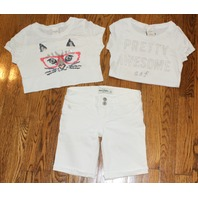 Girls Abercrombie Kids Shorts Sz 8 White 4 Pc Lot
