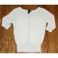 White House Black Market Sz ExtraSmall White Knit Top
