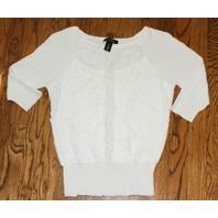 White House Black Market Sz ExtraSmall White Knit Top