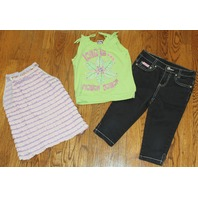 Lipstick Girls Sz 6X Black Jeans Lot & 2 shirts