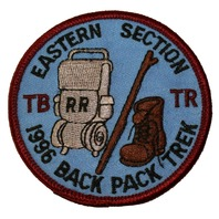 Eastern Section TB TR 1996 Back Pack Trek Boy Scout Uniform Patch