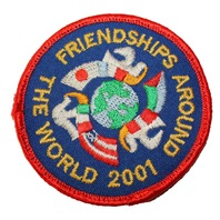 Friendships Around the World 2001 Boy Scout Uniform Patch