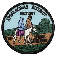 Appalachian District Section 7 1989 Spring Gathering Boy Scout Uniform Patch