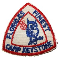 Florida's Finest Camp Keystone Vintage Owl Boy Scout Uniform Patch