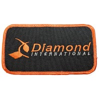 Diamond International Orange and Black Logo Uniform Patch