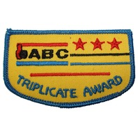 ABC Triplicate Award Bowling Uniform Patch
