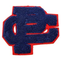 High School Letterman Jacket Letters P C CP PC Uniform Patch