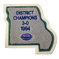 High School Letterman Jacket District Champs 1994 Missouri Uniform Patch