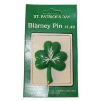 Gibson Luck O' the Irish Shamrock Blarney Green Hat Lapel Pin