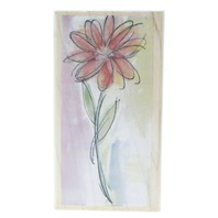 Hampton Art Stamps Watercolor Sketched Daisy Flower Wooden Rubber Stamp