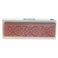 All Night Media Anna Griffin Scroll Border Wooden Rubber Stamp
