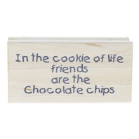 Great Impressions E196 Chocolate Chip Cookies of Life  Wooden Rubber Stamp
