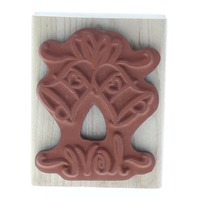 Amie Love Church Bells Wooden Rubber Stamp