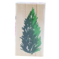 Stampendous Pine Tree Brancy Greenery Wooden Rubber Stamp