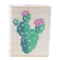 Stampendous Prickley Pear Cactus Wooden Rubber Stamp