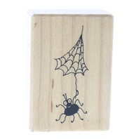 PSX Spider with a Web D-3549 Halloween Wooden Rubber Stamp