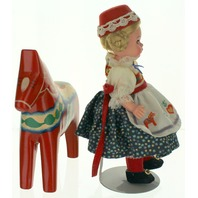 "Madame Alexander Sweden Girl Doll with Horse and Outfit 8"" original box 35980"