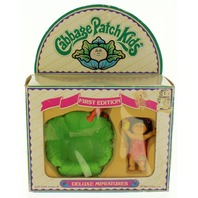 Vintage 1984 Cabbage Patch Kids First Edition Deluxe Miniatures In Box!!